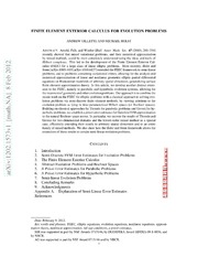 Finite Element Exterior Calculus for Evolution Problems