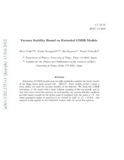 Vacuum Stability Bound on Extended GMSB Models