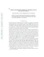 Versal deformation theory of algebras over a quadratc operad