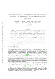 Generalized dynamical density functional theory for classical fluids and the significance of inertia and hydrodynamic interactions