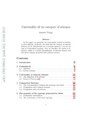 Universality of the category of schemes
