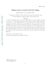 Hidden-sector-assisted 125 GeV Higgs boson