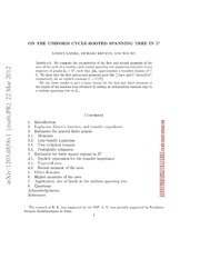 On the uniform cycle rooted spanning tree in z 2 adrien for Uniform spanning tree