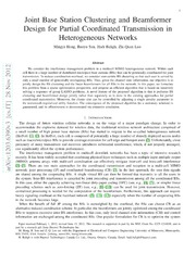 Joint Base Station Clustering and Beamformer Design for Partial Coordinated Transmission in Heterogenous Networks