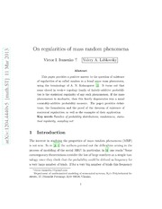 On regularities of mass random phenomena