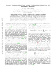 Frustrated RVB states in 2D: classifications and short-range correlations