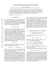 Universal nonclassicality witnesses for harmonic oscillators