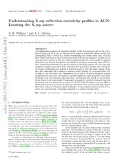 Understanding X-ray reflection emissivity profiles in AGN: Locating the X-ray source