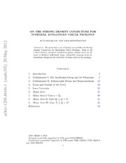 On the Local-Global Conjecture for integral Apollonian gaskets