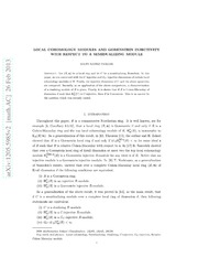 Local cohomology modules and Gorenstein injectivity with respect to a semidualizing module