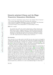 Linearly polarized Gluons and the Higgs Transverse Momentum Distribution