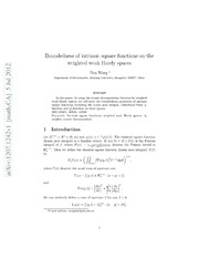 Boundedness of intrinsic square functions on the weighted weak Hardy spaces