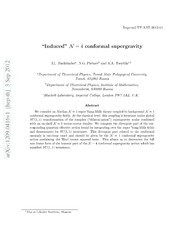 Induced N=4 conformal supergravity
