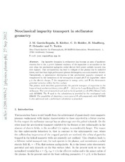 On neoclassical impurity transport in stellarator geometry