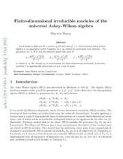 Finite-dimensional irreducible modules of the universal Askey-Wilson algebra