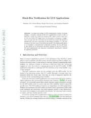 Black-Box Verification for GUI Applications