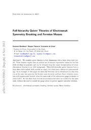 Full-hierarchy Quiver Theories of Electroweak Symmetry Breaking and Fermion Masses