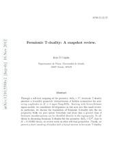Fermionic T-duality: A snapshot review