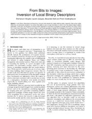 From Bits to Images: Inversion of Local Binary Descriptors