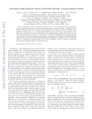 Generating Many Majorana Modes via Periodic Driving: A Superconductor Model