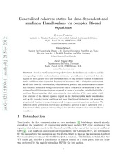 Generalized coherent states for time-dependent and nonlinear Hamiltonians via complex Riccati equations