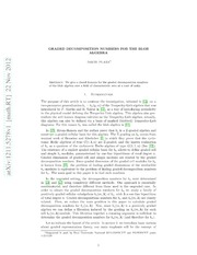 Graded decomposition numbers for the blob algebra