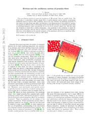Friction and the oscillatory motion of granular flows