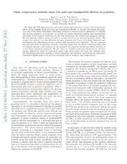 Finite temperature inelastic mean free path and quasiparticle lifetime in graphene