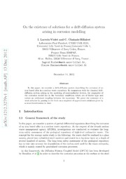 On the existence of solutions for a drift-diffusion system arising in corrosion modelling