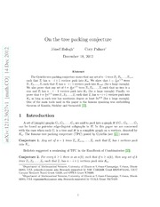 On the tree packing conjecture
