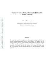 On EVH black hole solution in Heterotic string theory