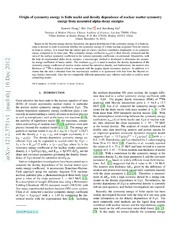 Origin of symmetry energy in finite nuclei and density dependence of nuclear matter symmetry energy from measured alpha-decay energies