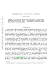 Ore extensions and Poisson algebras