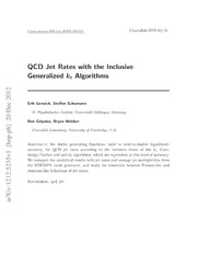 QCD Jet Rates with the Inclusive Generalized kt Algorithms