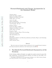 Forward-Backward and Charge Asymmetries in the Standard Model
