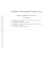 Foundations of Noncommutative Function Theory