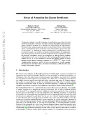 Focus of Attention for Linear Predictors