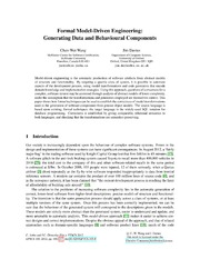 Formal Model-Driven Engineering: Generating Data and Behavioural Components