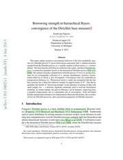 Borrowing strength in hierarchical Bayes: convergence of the Dirichlet base measure