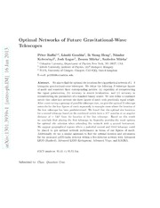 Optimal Networks of Future Gravitational-Wave Telescopes