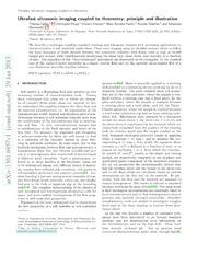 Ultrafast ultrasonic imaging coupled to rheometry: principle and illustration