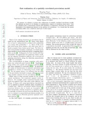 Fast realization of a spatially correlated percolation model