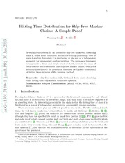 Hitting Time Distribution for Skip-Free Markov Chains: A Simple Proof