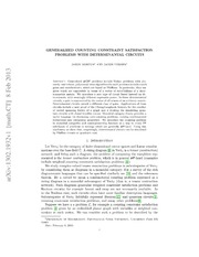 Generalized Counting Constraint Satisfaction Problems With Determinantal Circuits