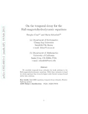 On the temporal decay for the Hall-magnetohydrodynamic equations