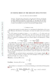 On simple zeros of the Riemann zeta-function