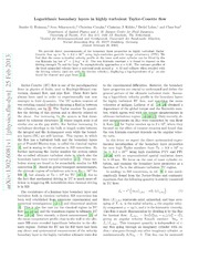 Logarithmic boundary layers in highly turbulent Taylor-Couette flow