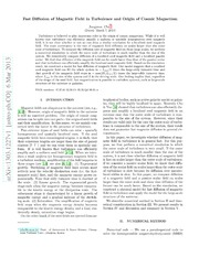 Fast Diffusion of Magnetic Field in Turbulence and Origin of Cosmic Magnetism