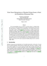 False-Name Manipulation in Weighted Voting Games is Hard for Probabilistic Polynomial Time