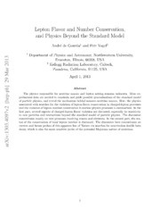 Lepton Flavor and Number Conservation, and Physics Beyond the Standard Model